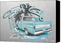 California Hot Rod Canvas Prints - Surf City Canvas Print by Beau Van Sickle