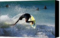 Active Canvas Prints - Surfer Canvas Print by Carlos Caetano
