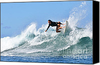 Bikini Canvas Prints - Surfer Girl at Bowls 5 Canvas Print by Paul Topp
