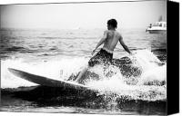Fotos Canvas Prints - Surfing at Long Branch Canvas Print by John Rizzuto