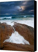 Storm Canvas Prints - Surfs Up Canvas Print by Mike  Dawson