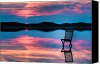 Daybreak Canvas Prints - Surreal Sunset Canvas Print by Gert Lavsen