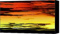 Art Dealer Canvas Prints - Surreally Sunsety Canvas Print by Louie Rochon