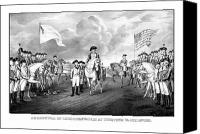 Founding Father Drawings Canvas Prints - Surrender Of Lord Cornwallis At Yorktown Canvas Print by War Is Hell Store