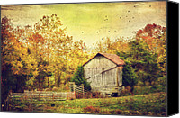 Autumn Photographs Canvas Prints - Surrounded By Fall Canvas Print by Kathy Jennings