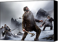 Ice Age Canvas Prints - Survival Of The Fittest, Artwork Canvas Print by Smetek