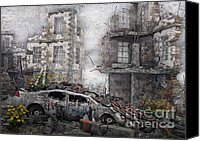 Ruin Canvas Prints - Survivors between Ruins Canvas Print by Jutta Maria Pusl