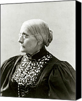 1890s Portrait Canvas Prints - Susan B. Anthony 1820-1906, In 1890s Canvas Print by Everett