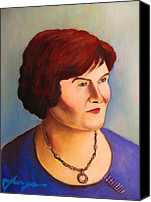 Rock And Roll Canvas Prints - Susan Boyle Portrait Canvas Print by Dan Haraga