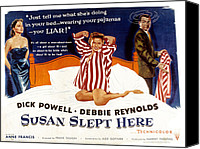 1950s Poster Art Canvas Prints - Susan Slept Here, Anne Francis, Debbie Canvas Print by Everett