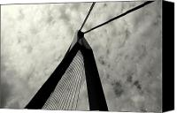 Rotterdam Canvas Prints - Suspension Bridge Abstract 1 Canvas Print by Dean Harte