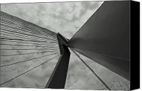 Rotterdam Canvas Prints - Suspension Bridge Abstract 2 Canvas Print by Dean Harte