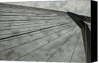 Rotterdam Canvas Prints - Suspension Bridge Abstract 3 Canvas Print by Dean Harte