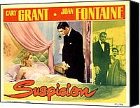 Posth Canvas Prints - Suspicion, Joan Fontaine, Cary Grant Canvas Print by Everett