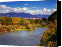 Idaho Canvas Prints - Swan Valley Autumn Canvas Print by Leland Howard