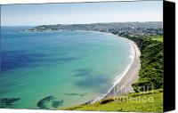 Bay Photo Canvas Prints - SWANAGE BLUE the clear waters of Swanage Bay in Dorset England UK Canvas Print by Andy Smy