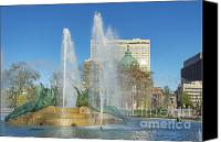 Alexander Calder Canvas Prints - Swann Fountain at Logans Circle Canvas Print by John Greim