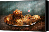 Tea Party Canvas Prints - Sweet - Scone - Scones anyone Canvas Print by Mike Savad