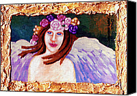 Faerie Canvas Prints - Sweet Angel Canvas Print by Genevieve Esson