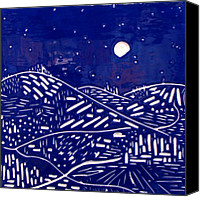 Landscapes Ceramics Canvas Prints - Sweet Night Canvas Print by Jason Messinger