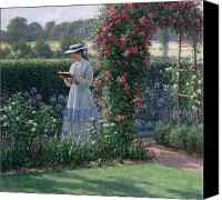 Gardens Canvas Prints - Sweet Solitude Canvas Print by Edmund Blair Leighton