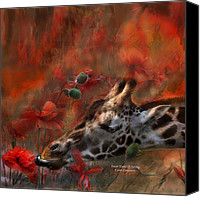 Poppies Canvas Prints - Sweet Taste Of Spring Canvas Print by Carol Cavalaris