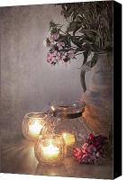 Glass Canvas Prints - Sweet Williams faded. Canvas Print by Jane Rix