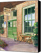 Napa Valley Canvas Prints - Sweetie Pies Bakery Canvas Print by Gail Chandler