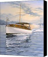St Lawrence River Canvas Prints - Swell Canvas Print by Richard De Wolfe