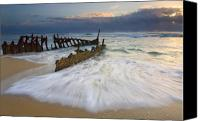 Away Canvas Prints - Swept Ashore Canvas Print by Mike  Dawson