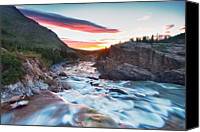 Montana Canvas Prints - Swiftcurrent Creek Sunrise Canvas Print by Scott Pudwell Photography