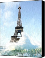 Judgment Day Canvas Prints - Swimming pleasure in Paris Canvas Print by Stefan Kuhn