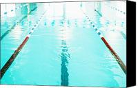Olympic Canvas Prints - Swimming Pool Lane Canvas Print by Skip Nall