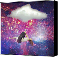 Teg Canvas Prints - Swing Away Canvas Print by Casi Wonderland