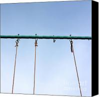Playground Equipment Canvas Prints - Swing Canvas Print by Bernard Jaubert