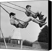 Playground Equipment Canvas Prints - Swing High Canvas Print by Erich Auerbach