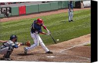 Washington Nationals Canvas Prints - Swinging For the Fences 2 Canvas Print by Michael Clubb