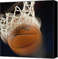 Basketball Canvas Prints - Swish Canvas Print by Shane Kelly