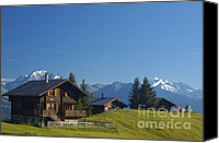 Alp Canvas Prints - Swiss alps - beautiful chalets Canvas Print by Matthias Hauser