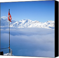 Swiss Canvas Prints - Swiss Alps Panorama Canvas Print by Image by Christian Senger