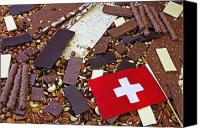 Swiss Canvas Prints - Swiss Chocolate Canvas Print by Joana Kruse