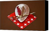 Swiss Canvas Prints - Swiss chocolate praline Canvas Print by Joana Kruse