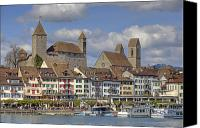 Upper Canvas Prints - Switzerland Rapperswil Canvas Print by Joana Kruse
