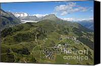 Alp Canvas Prints - Switzerland Swiss Alps Canvas Print by Matthias Hauser