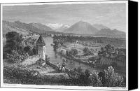 1833 Canvas Prints - Switzerland: Thun, 1833 Canvas Print by Granger
