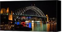 Sydney Photographs Canvas Prints - Sydney Harbour Bridge  Canvas Print by Jessica Estrada
