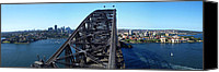 Sydney Skyline Canvas Prints - Sydney Harbour Bridge Canvas Print by Melanie Viola