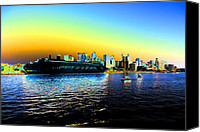 Sydney Skyline Canvas Prints - Sydney in Color Canvas Print by Douglas Barnard