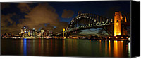 Sydney Skyline Canvas Prints - Sydney Skyline Canvas Print by Melanie Viola