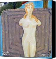 Enthroned Canvas Prints - Symbol of fertility and Goddess Aphrodite Canvas Print by Augusta Stylianou